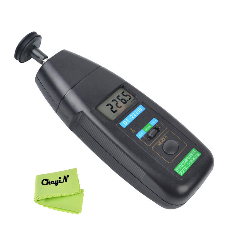 Handheld Contact Tachometer With Wheel Rotation Meter 3