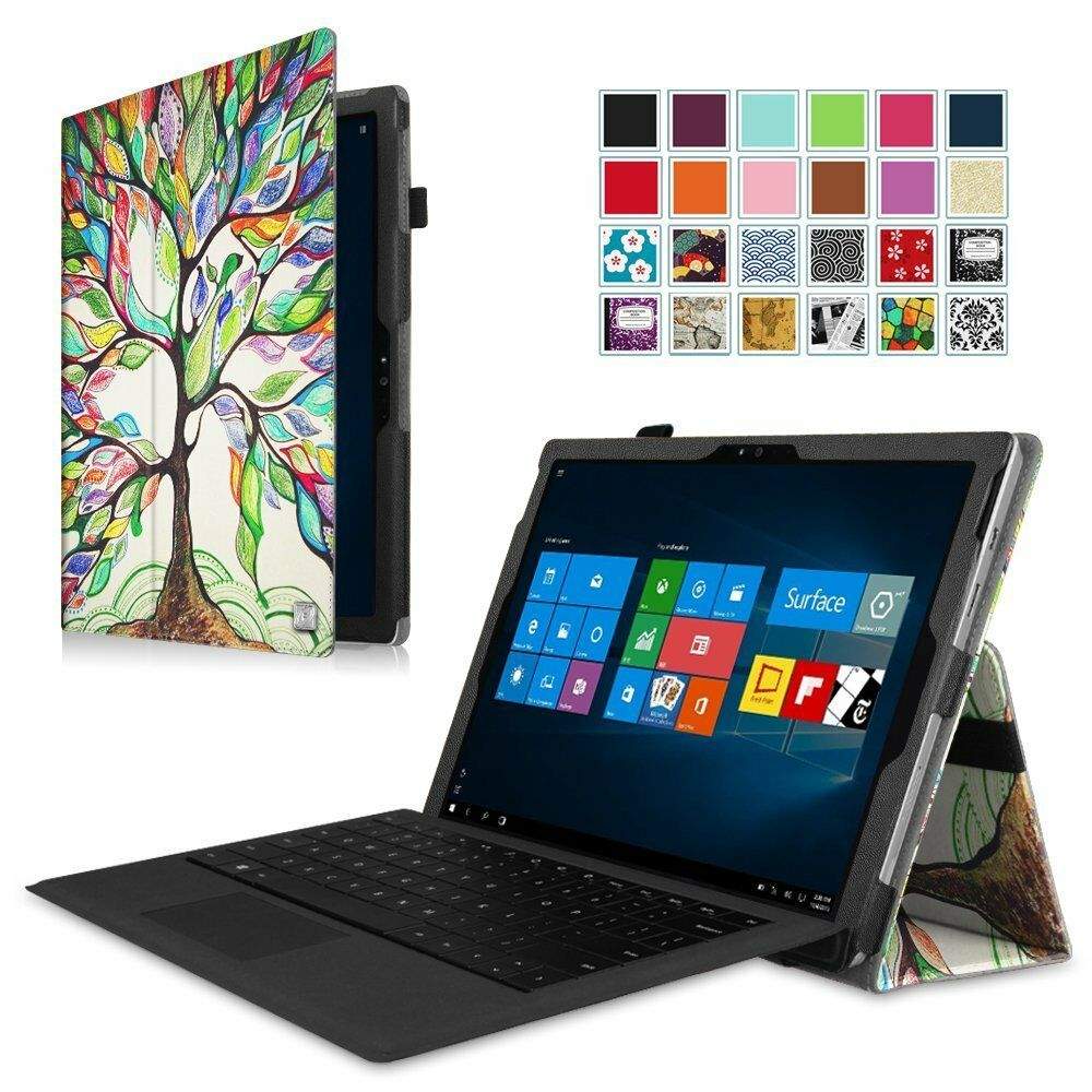 premium pu leather folio case stand cover for microsoft surface pro 3 4 12 3 ebay. Black Bedroom Furniture Sets. Home Design Ideas