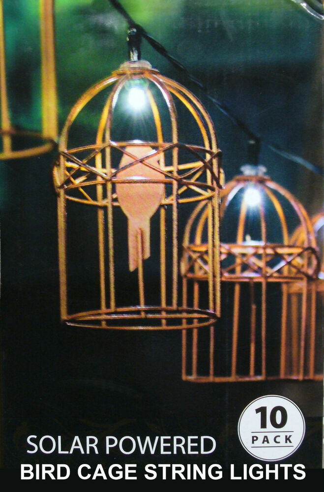 Metal Bird Cage String Lights : 10 Piece LED Solar Bird Cage String Light Kit - Beautifully Ornate! eBay