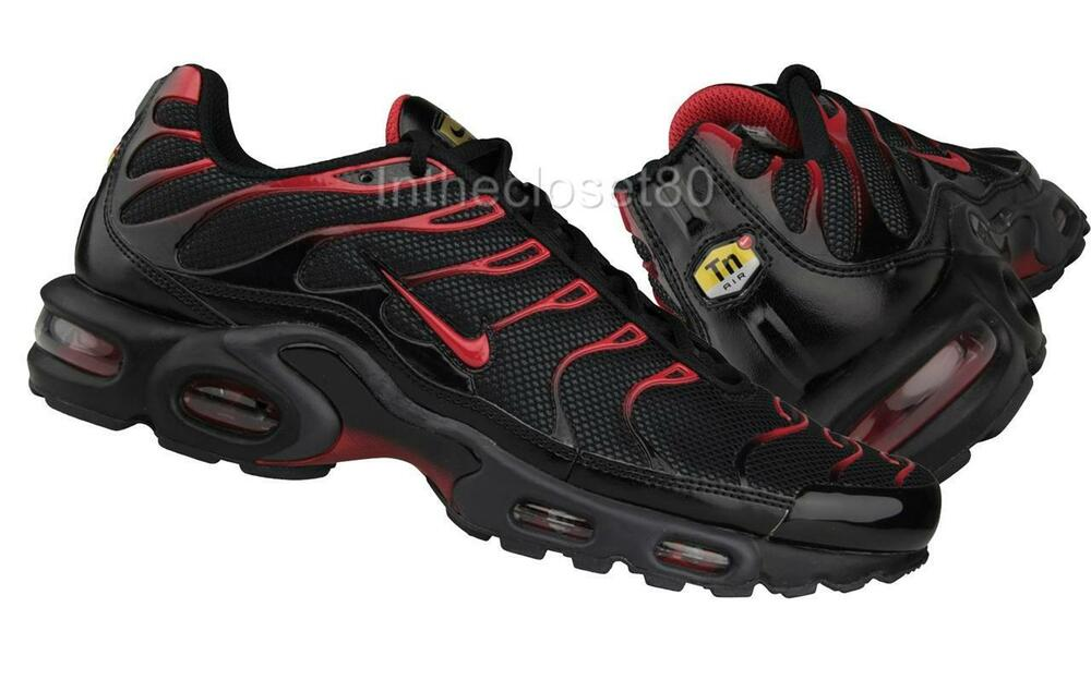 Nike Air Max Plus Tuned 1 Tn Mens Trainers Black Diablo Red Grey Hate 604133  eBay . ... e8effa3fd