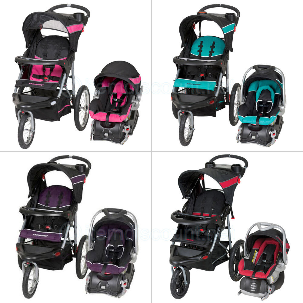 baby trend travel system jogging stroller infant car seat running jogger travel ebay. Black Bedroom Furniture Sets. Home Design Ideas