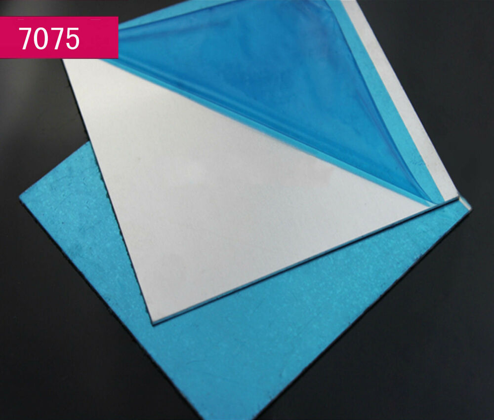 1pc 7075 Aluminum Al Alloy Shiny Polished Plate Sheet 0