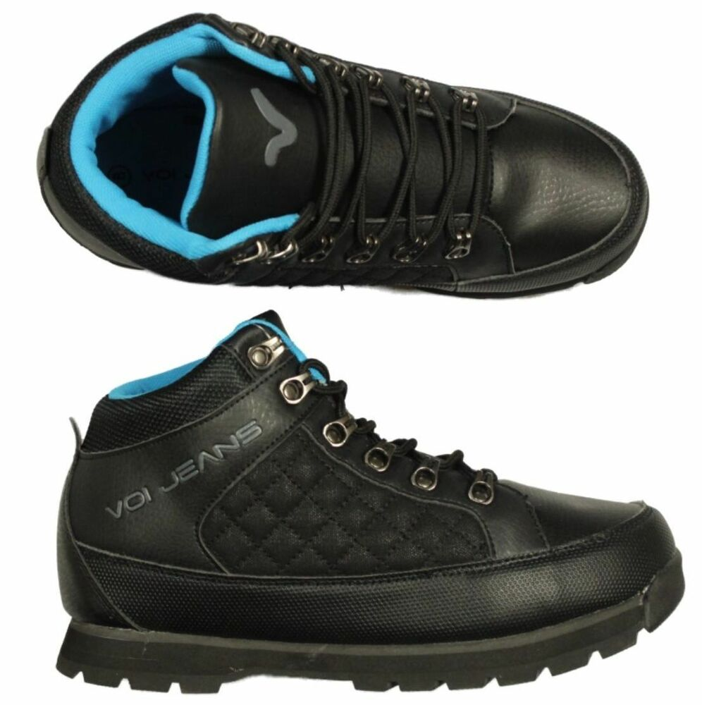 BRAND NEW MENS VOI SHOES BIG SIZE HUMMER BLACK HI TOP ...