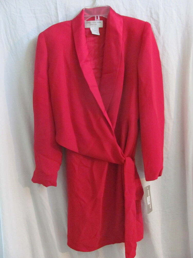 New With Tags Women S Jones New York Red Wrap Suit Dress