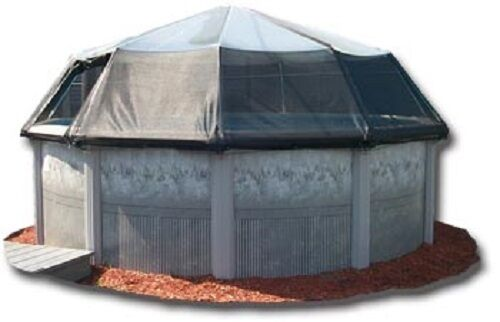 Oval Above Ground Swimming Pool Solar Screen Dome Pool