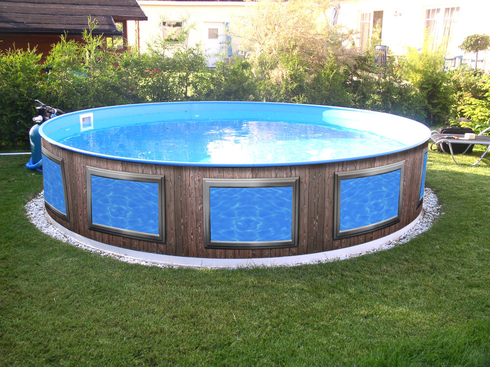 Poolaufkleber poolverkleidung pool design for Stahl pool verkleiden