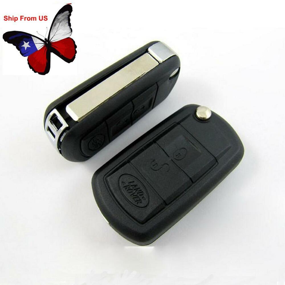 3 Buttons Folding Remote Key Shell Case Fit For Land Rover