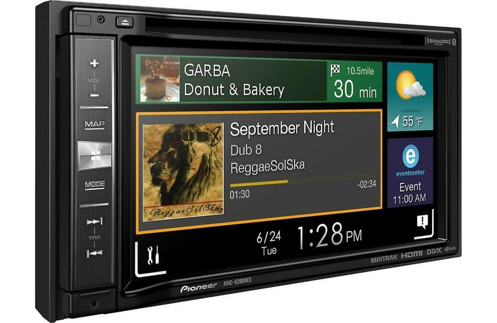 pioneer avic 6200nex double 2 din dvd cd player gps. Black Bedroom Furniture Sets. Home Design Ideas
