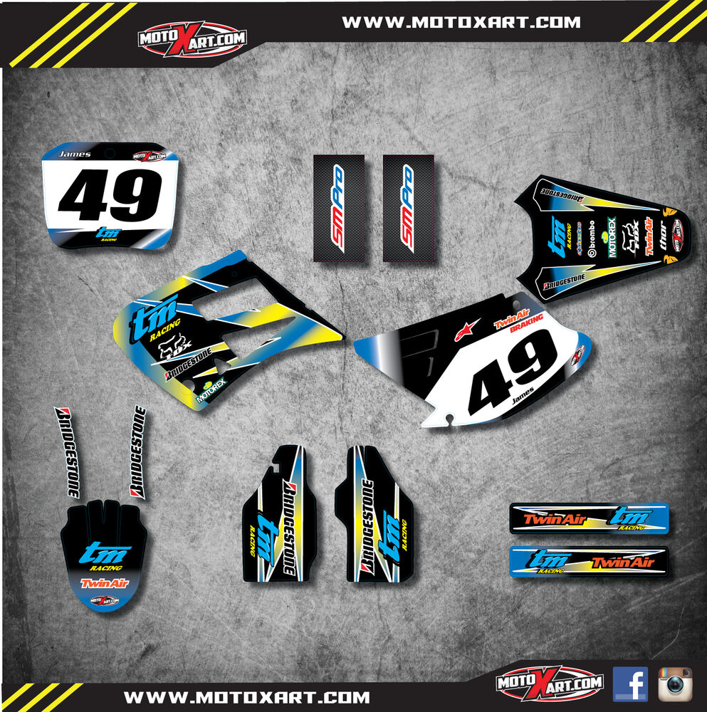 Details about tm racing 125 250 2000 2003 custom sticker kit sunrise style decals stickers