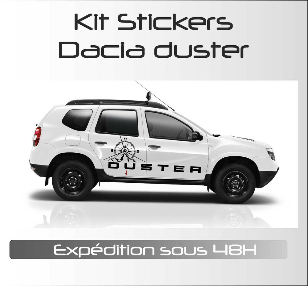 stickers autocollant adh sif automobile voiture kit dacia duster adventure ebay. Black Bedroom Furniture Sets. Home Design Ideas