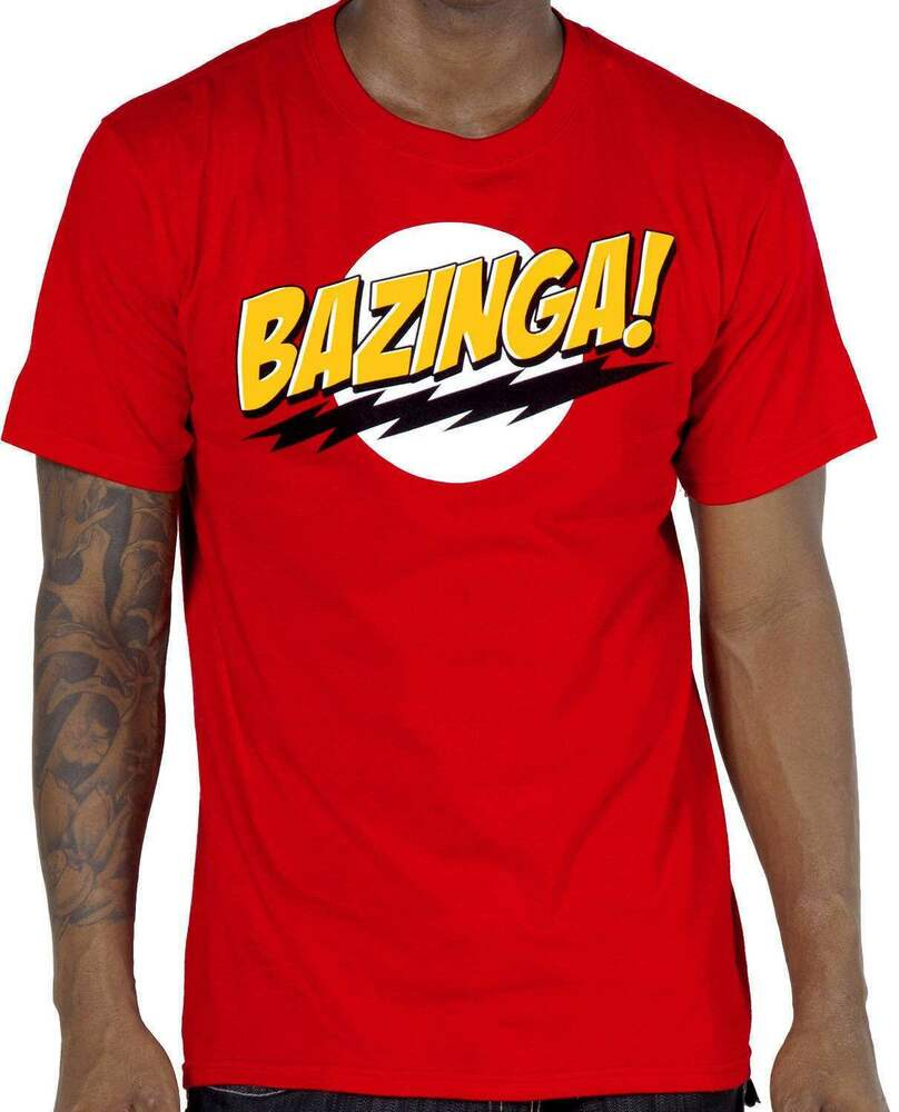 the big bang theory bazinga t shirt ebay. Black Bedroom Furniture Sets. Home Design Ideas
