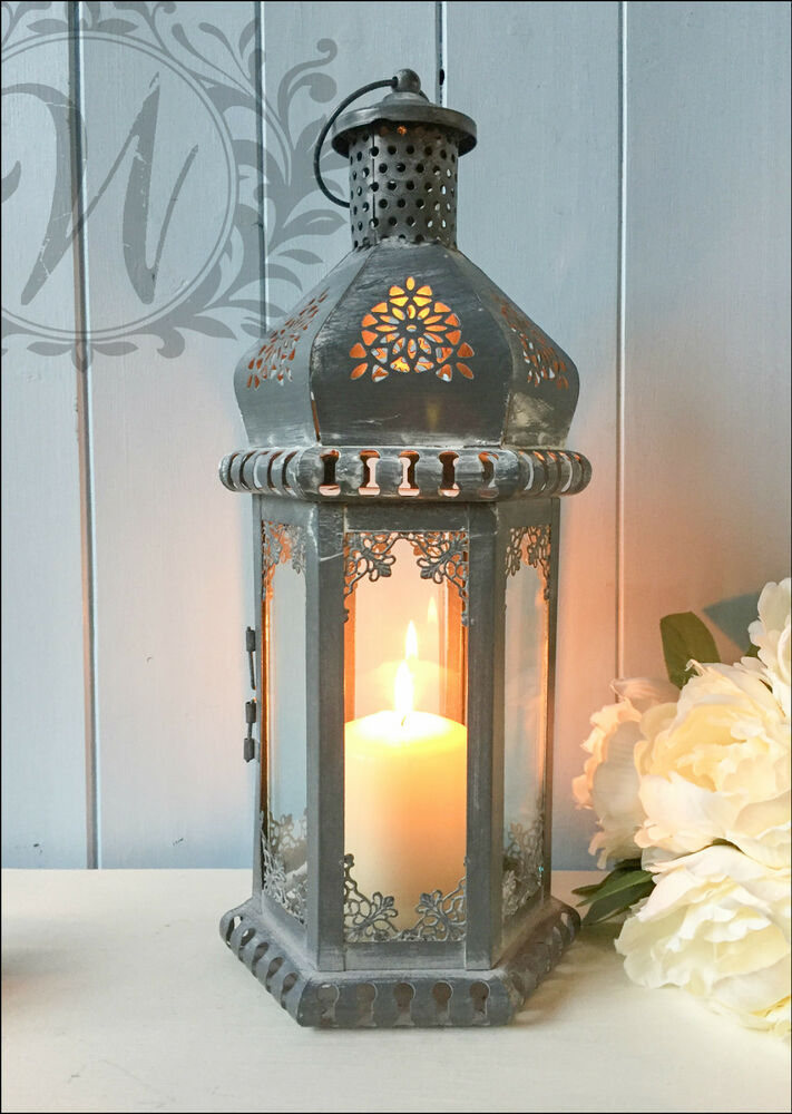 Vintage Lantern Candle Holder Moroccan Antique Style