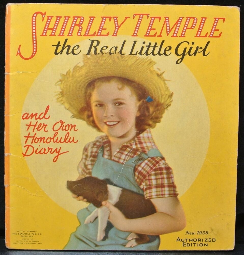 Details about 1938 SHIRLEY TEMPLE The Real Little Girl Honolulu Diary  Authorized Edition - SC