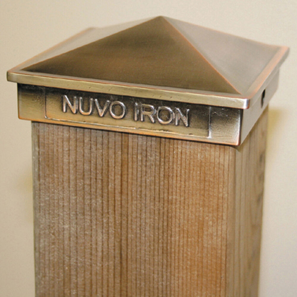 "Nuvo Iron PCP09CP 4""X6"" COPPER POST CAP Galvanized Pyramid"