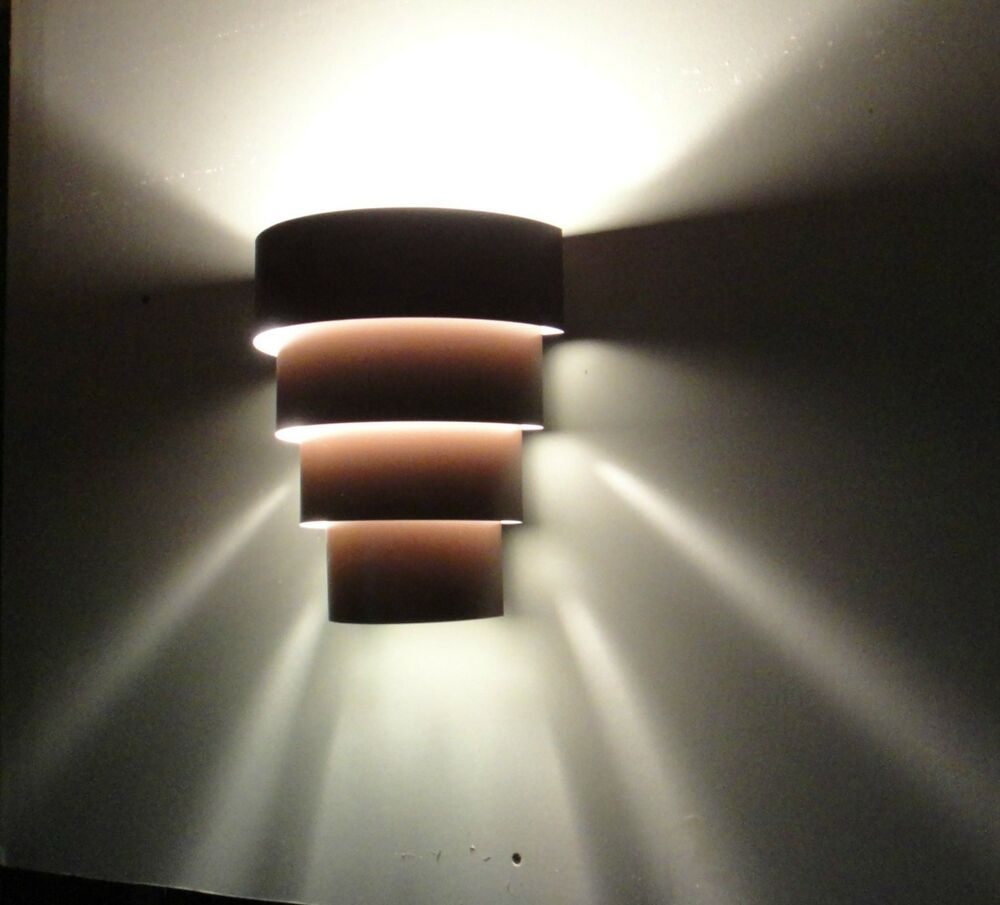 Hardwired Wall Light Fixture : 4 Tiered Theatre Style Hard Wired Wall Sconce Light Fixture eBay