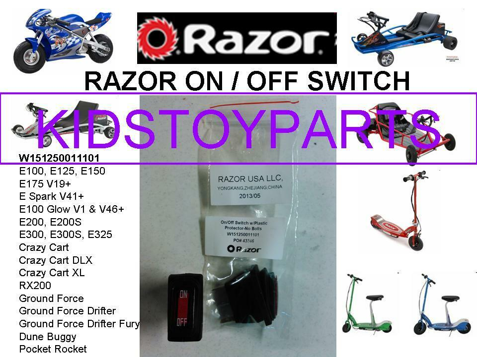 Razor On Off Power Switch For E300 Electric Scooter Ebay