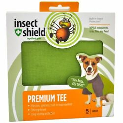 Insect Shield Premium Tee For Small Dogs ''Green''  ~ NEW