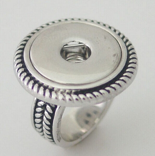 metal button ring interchangeable 18mm snap on jewelry b60