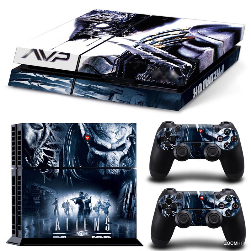 PS4 Playstation 4 Console Skin Decal Sticker Alien VS