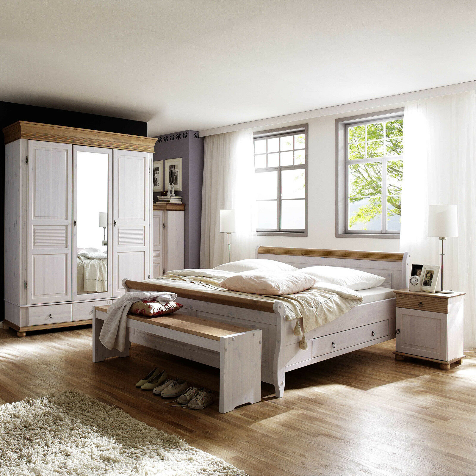 schlafzimmer kiefer massiv honigfarben ebay bettw sche kinder bettdecken test stiftung. Black Bedroom Furniture Sets. Home Design Ideas