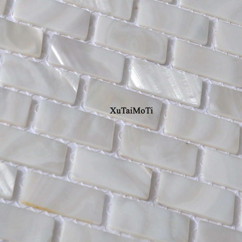 White Brick Shell Mosaic Tile Mother Of Pearl Bathroom