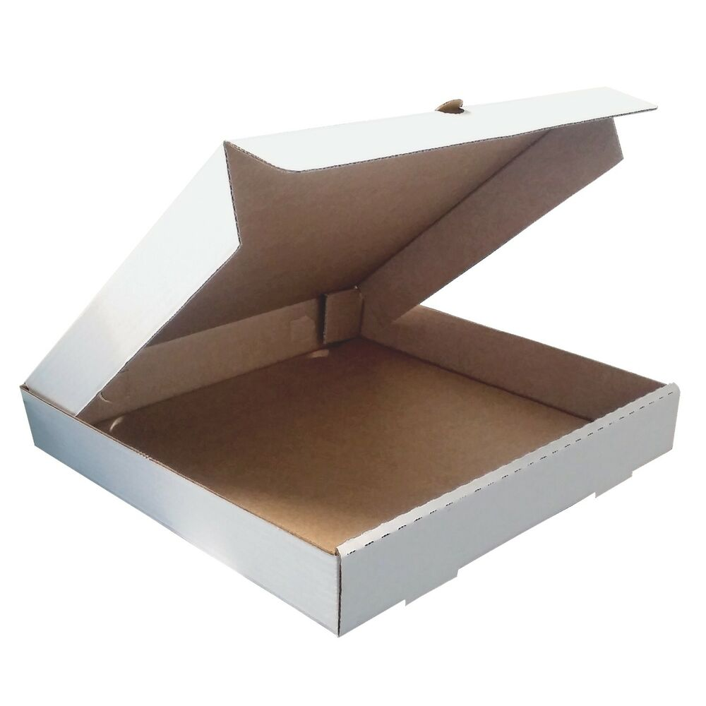 plain pizza boxes takeaway pizza box strong quality postal boxes 7 20 inch ebay. Black Bedroom Furniture Sets. Home Design Ideas