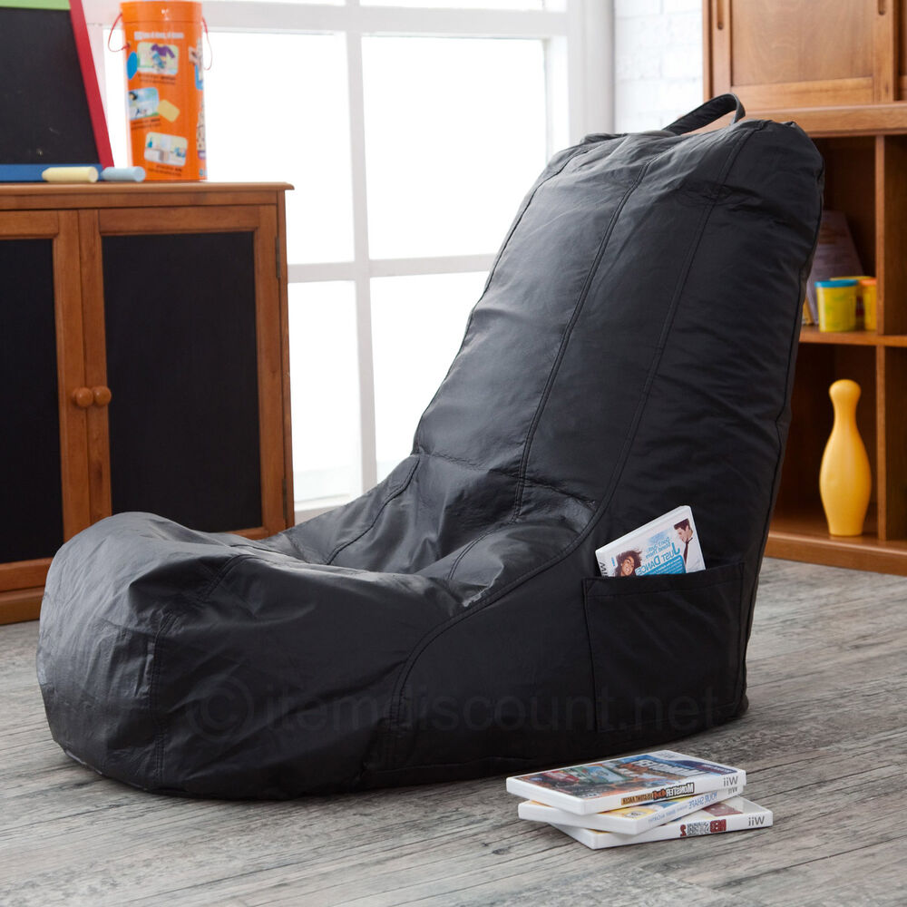 Bean bag video game chair seat gaming movie tv lounge for Kids tv chair