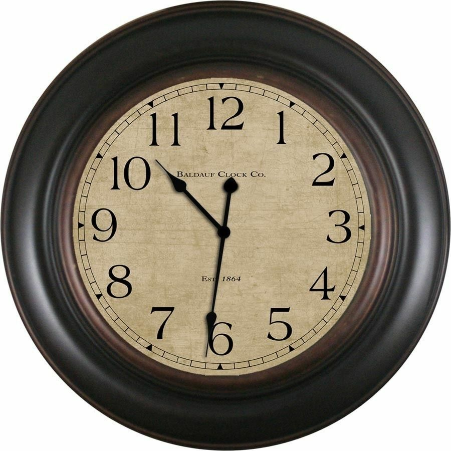 Baldauf Clock Company Oil Rub 30 Black Large Oversized