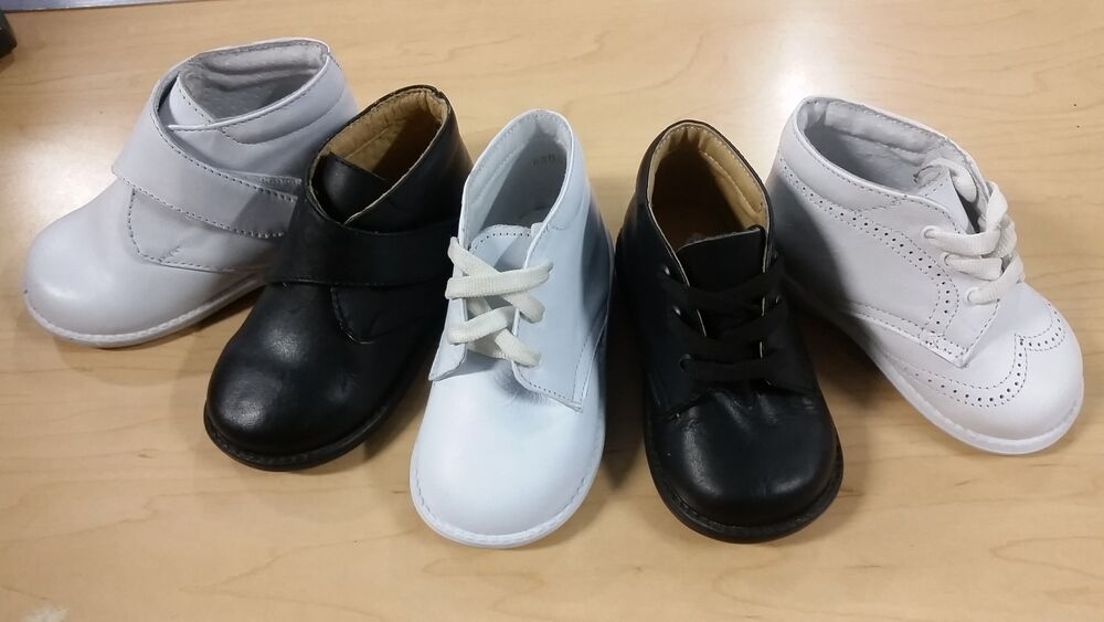Baby Boy, Girl Leather High Top Walking Shoes Assorted ...
