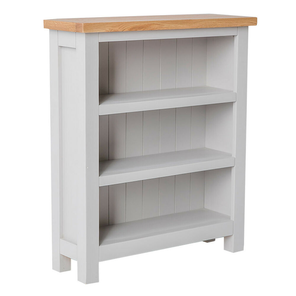 Farrow painted small bookcase narrow grey painted for Shallow shelving unit