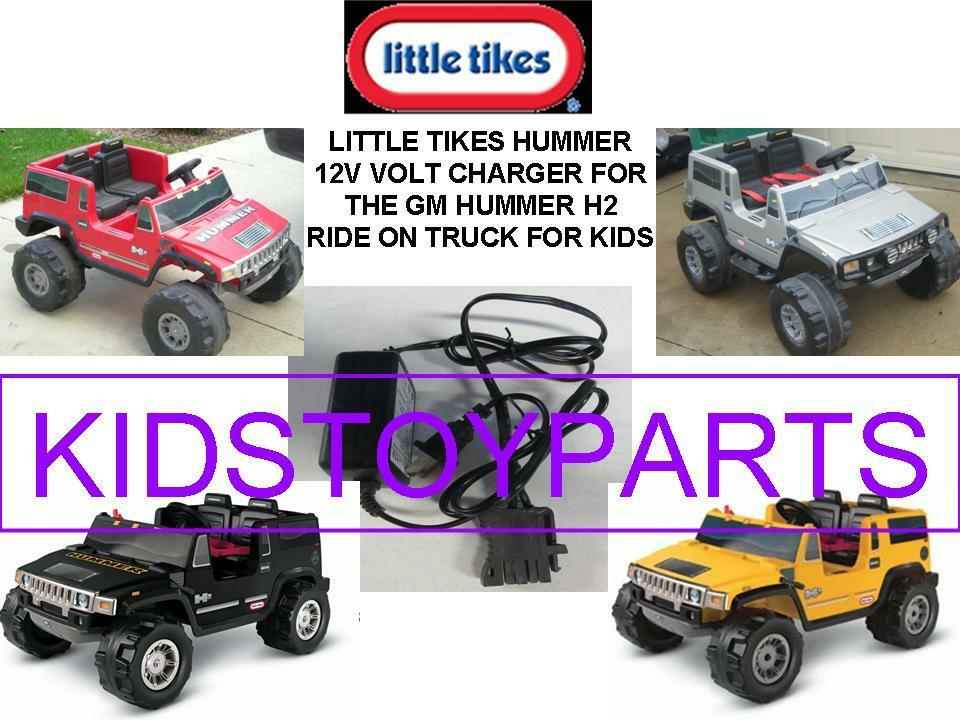 New Little Tikes Yellow Hummer 2 Seater 12 Volt Battery