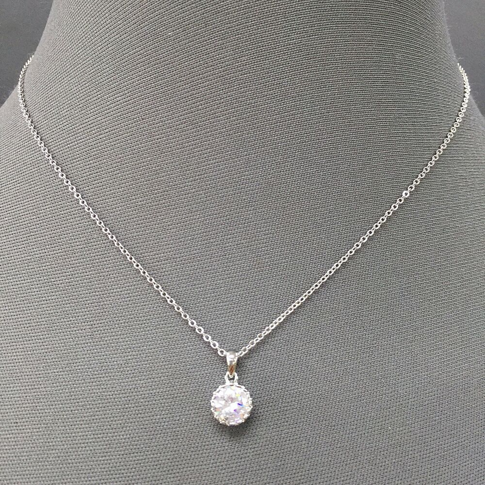 Silver Chain Simple Dainty Designer Inspired Cubic