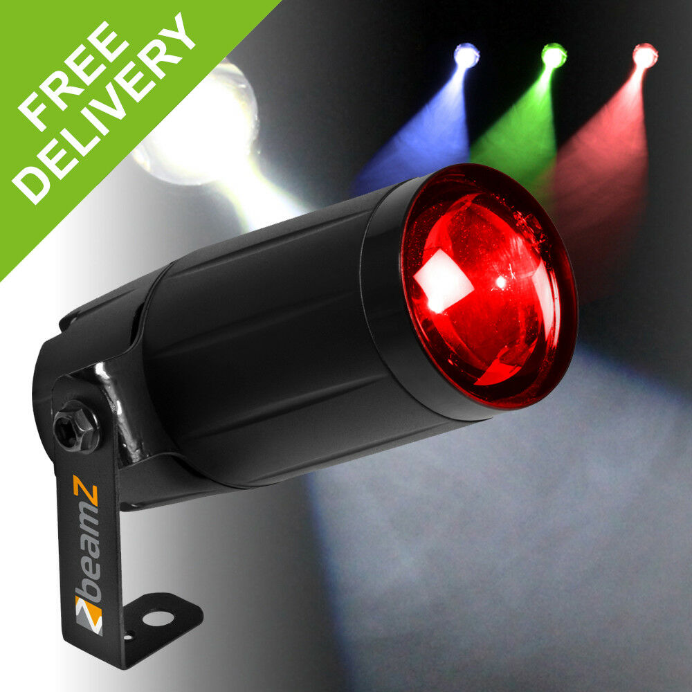 Pin Spot Lighting 12w Rgbw Led Dj Disco Colour Mirror Ball