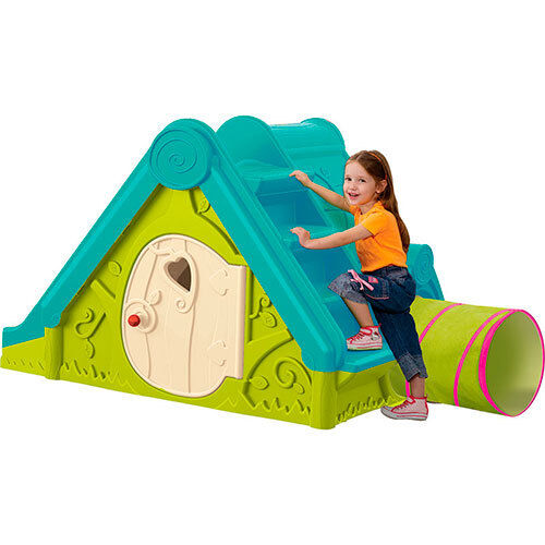 spielhaus 3in1 rutsche tunnel kinderhaus gartenhaus outdoor spielplatz df100 ebay. Black Bedroom Furniture Sets. Home Design Ideas