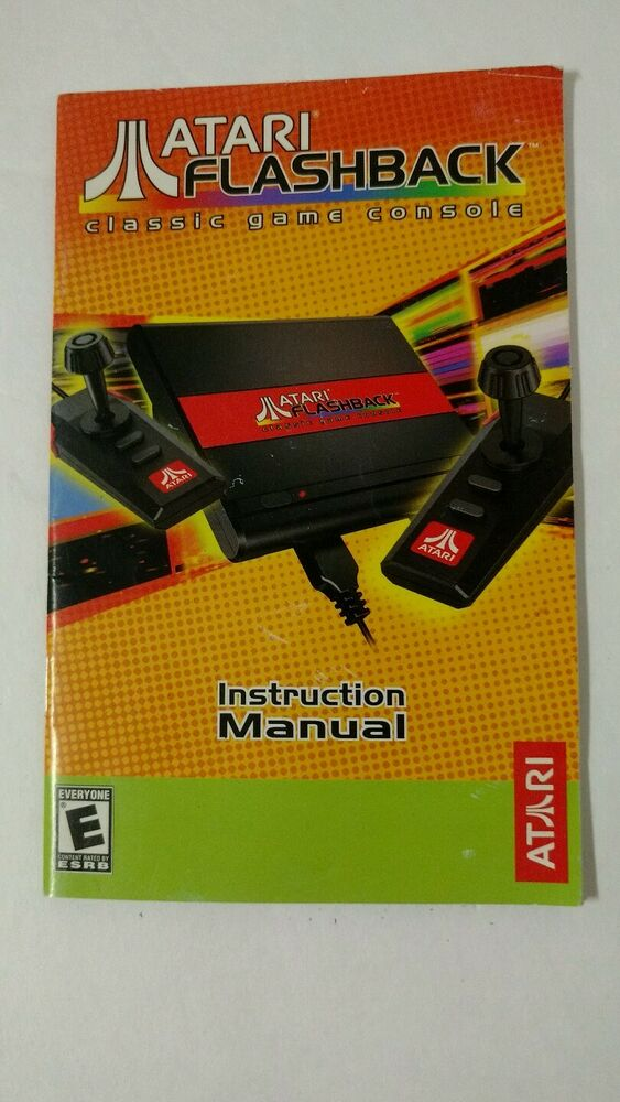 Atari flashback classic game console instruction manual ebay - Atari flashback classic game console game list ...