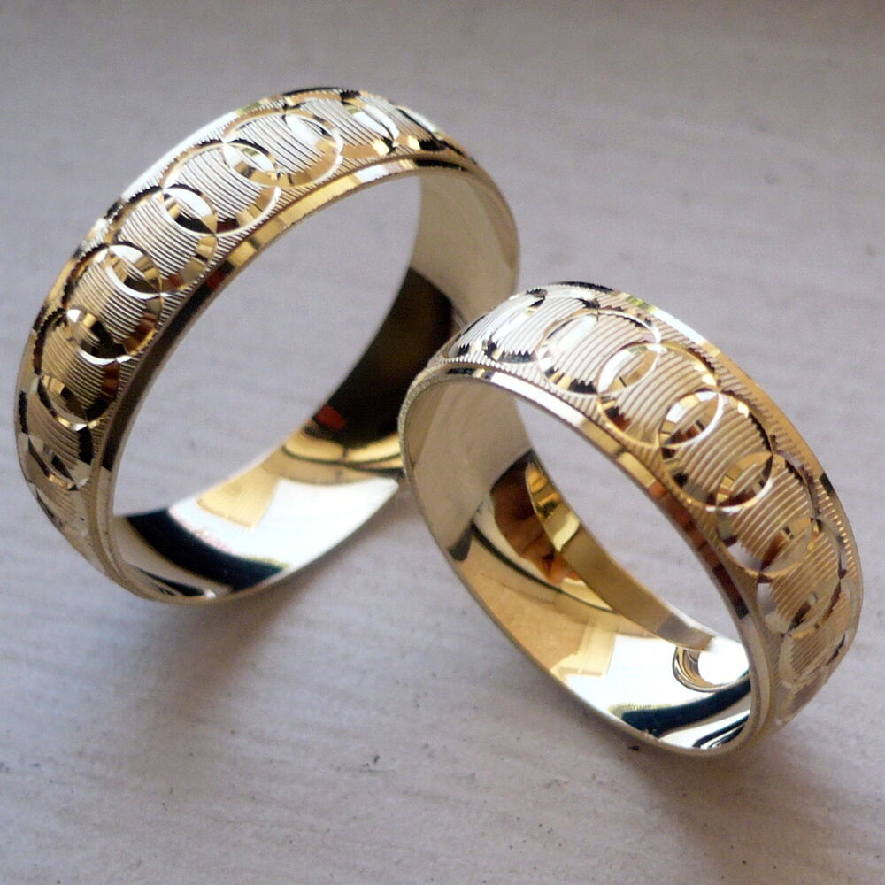 wedding ring bands for her 10k solid yellow gold his and wedding band ring set sz 9934