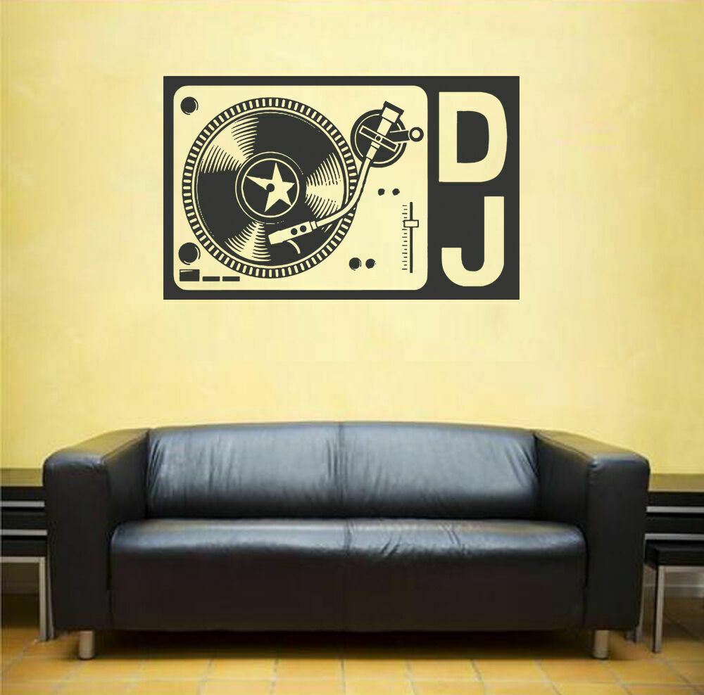 Ik1310 wall decal sticker dj electronic music techno for Bedroom recording studio