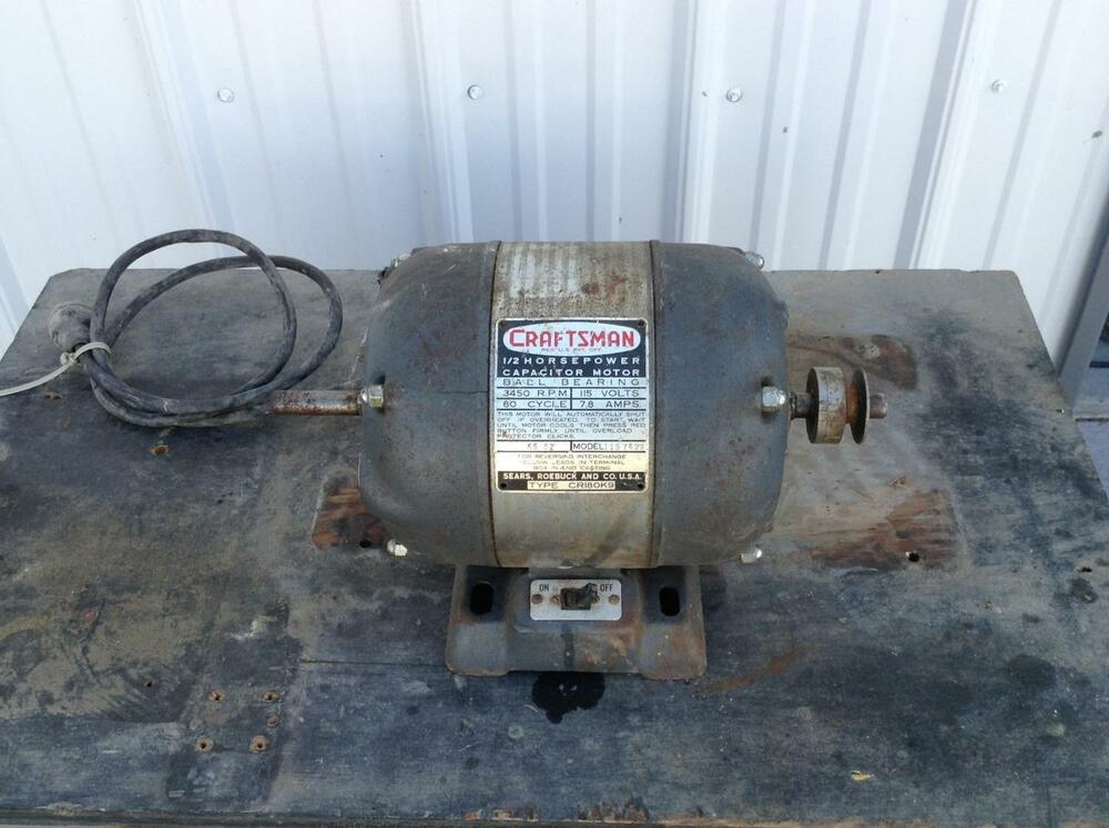 Craftsman ball bearing motor md 1 2 hp 3450 rpm for A and l motors