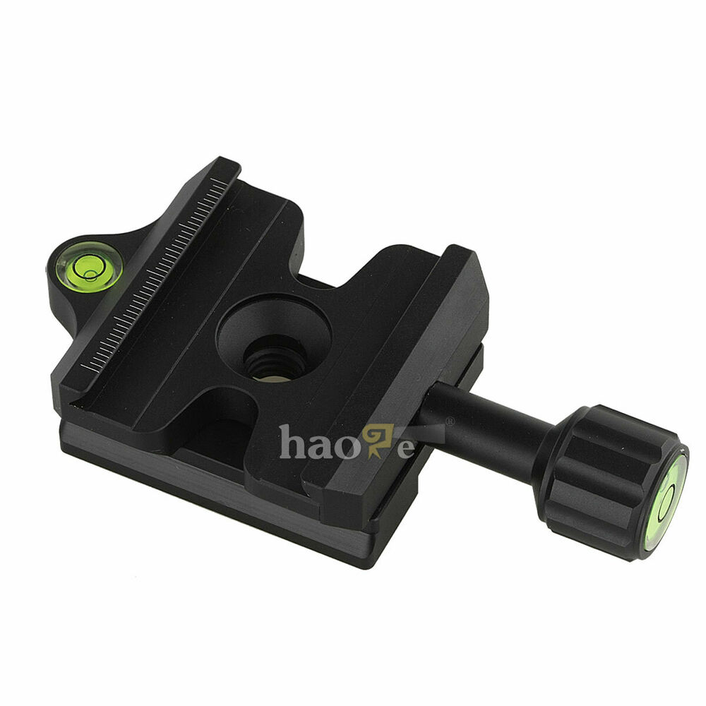 Quick release qr clamp adapter convertor for manfrotto to