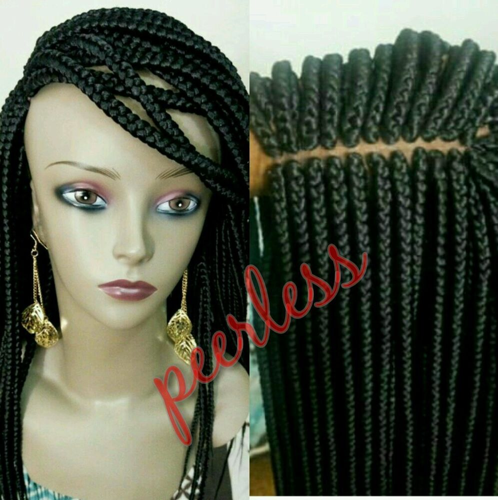 Crochet Box Braids Wig : Fully hand braided lace front box braid wig color 1 and avail in all ...