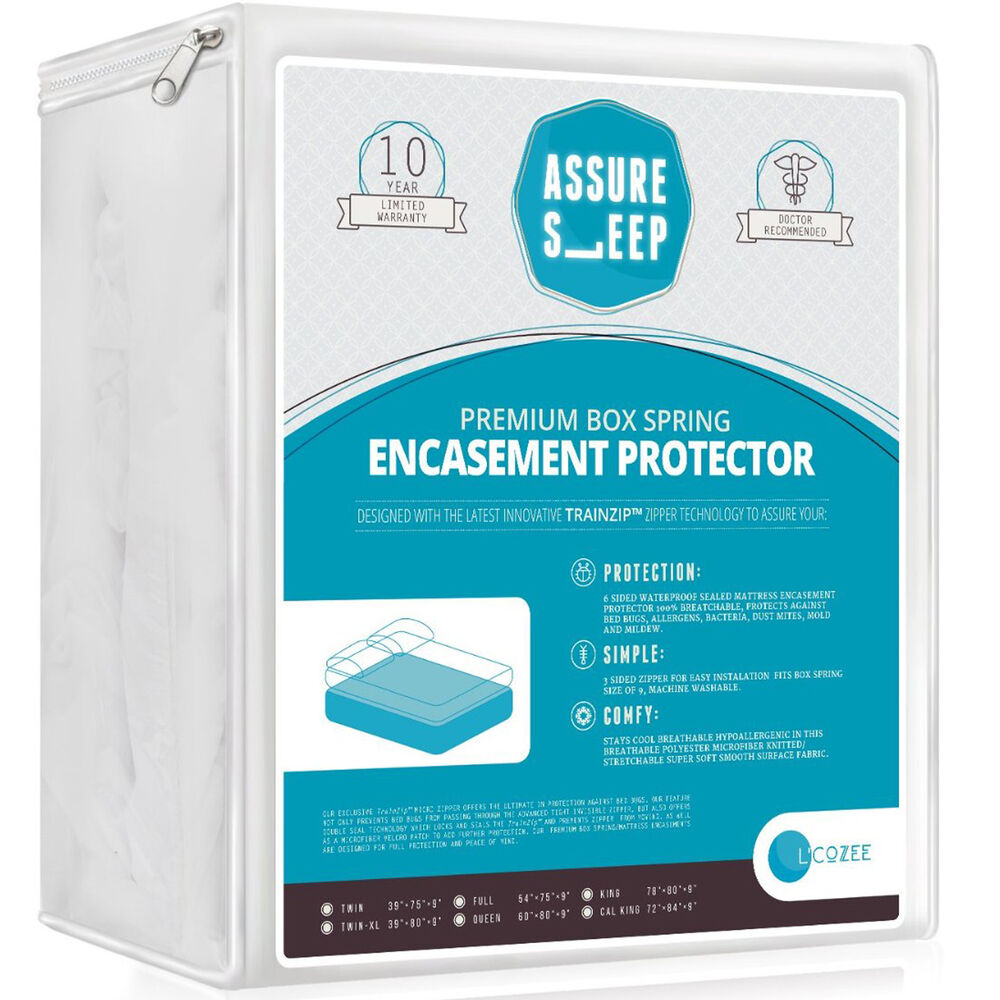 Mattress protector bed bug water proof box spring for Bed bug mattress and box spring protector