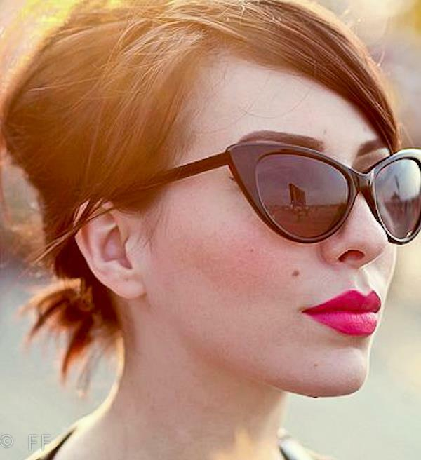 Thin Framed Fashion Glasses : Large Cat Eye Thin Frame Hot Pin Up Nikita Rockabilly ...