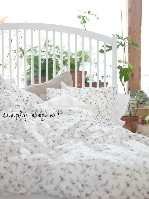 ikea ljusoga duvet quilt cover w pillowcases floral garden twin full queen king ebay. Black Bedroom Furniture Sets. Home Design Ideas