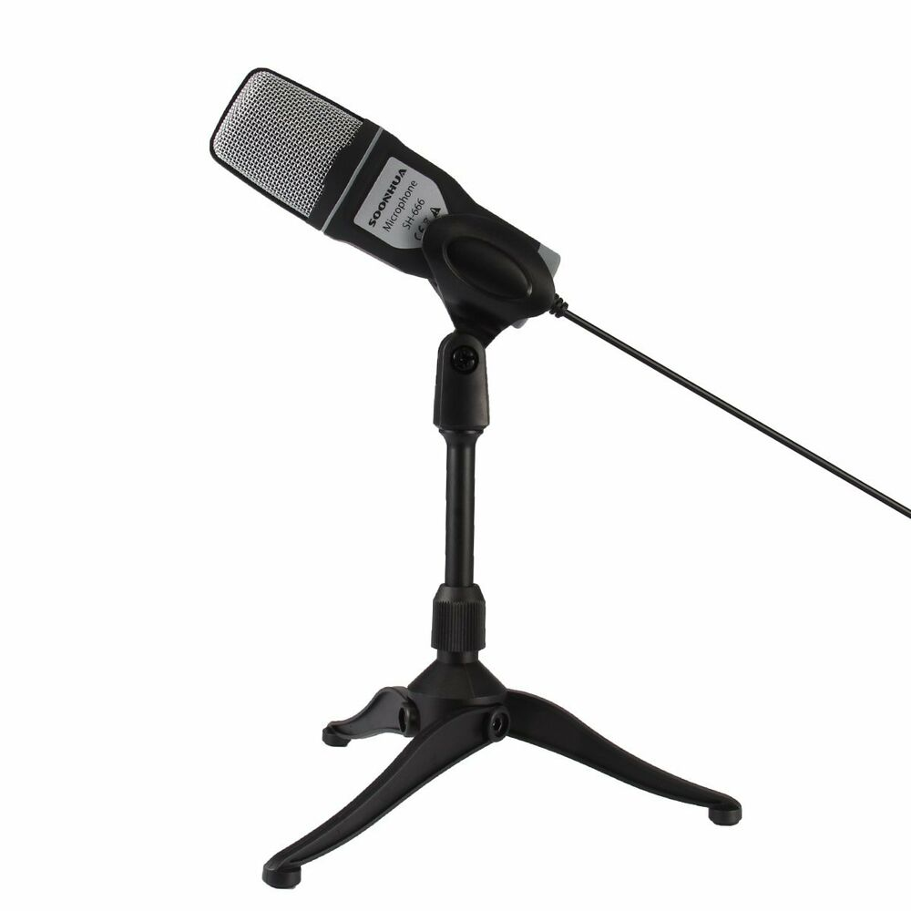 adjustable mini tripod desktop table microphone stand holder with mic mount clip ebay. Black Bedroom Furniture Sets. Home Design Ideas