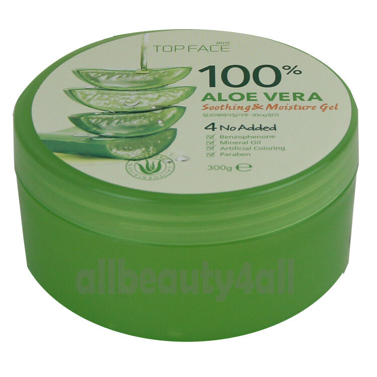 100  pure aloe vera soothing  u0026 moisture gel 300ml  10 58oz