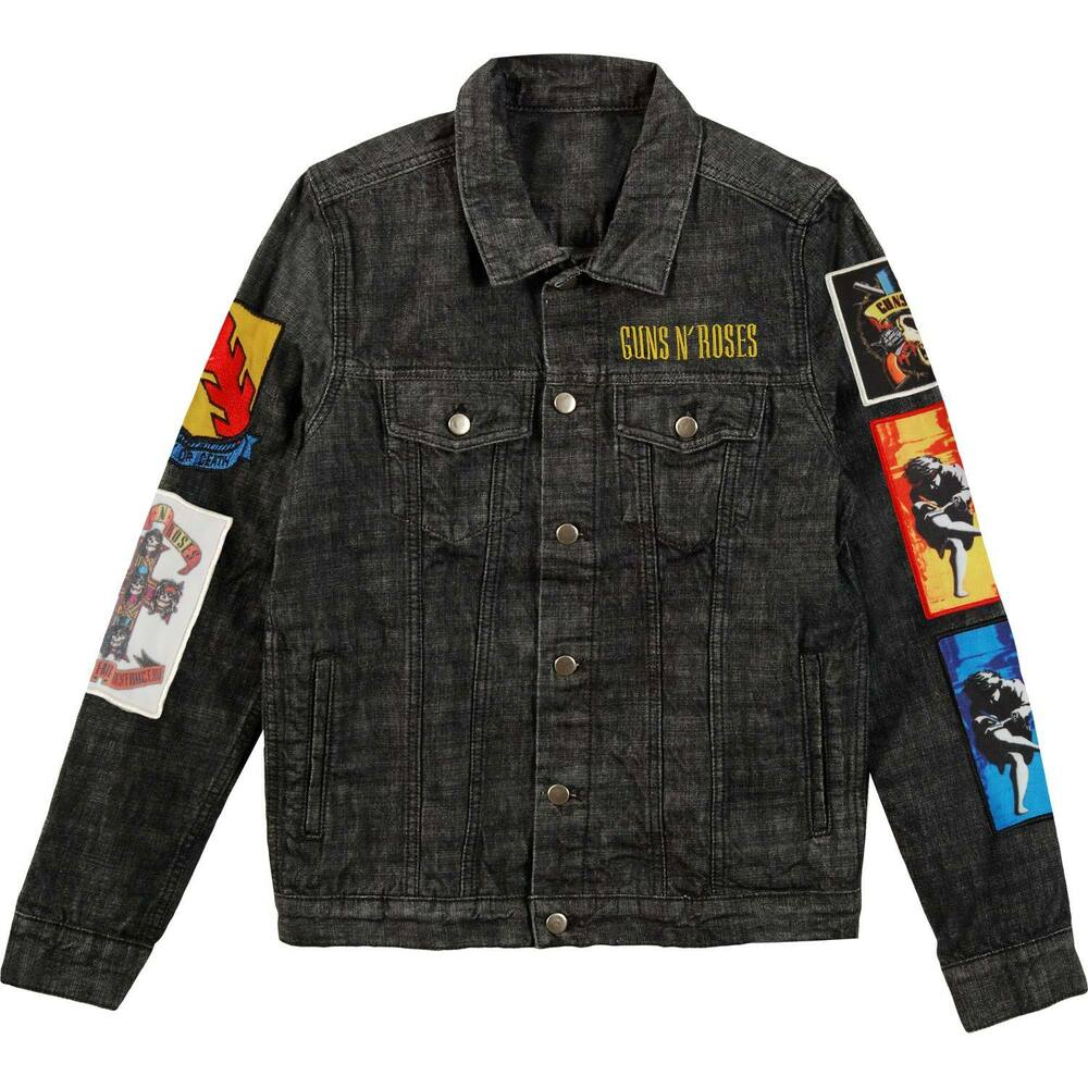 Guns N Roses Menu0026#39;s Cross Denim Jacket Denim Jacket Denim | eBay