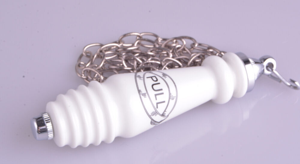 Traditional Style Ceramic Chrome Chain Flush Pull For High