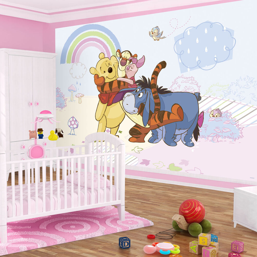 poster fototapete wandbild tapeten regenbogen disney winnie puuh tiger 315 p4 ebay. Black Bedroom Furniture Sets. Home Design Ideas