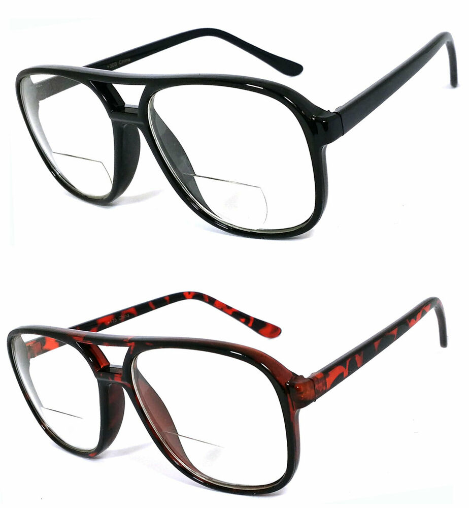 Reading Glasses Bifocal 70-80s IT Style LARGE MAN Bold ...