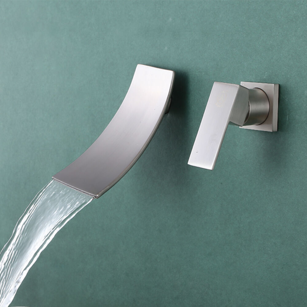 Kes L3200 2 Wall Mount Bathroom Faucet Waterfall Lavatory